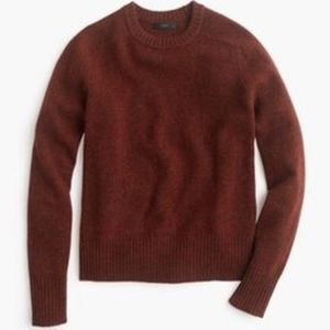 J Crew Wool Holly Sweater Rust Red XS